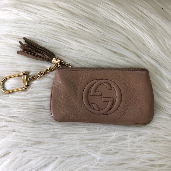 df04767716c Gucci Accessories - Gucci Card Holder Pouch Keychain Nude Color - Used